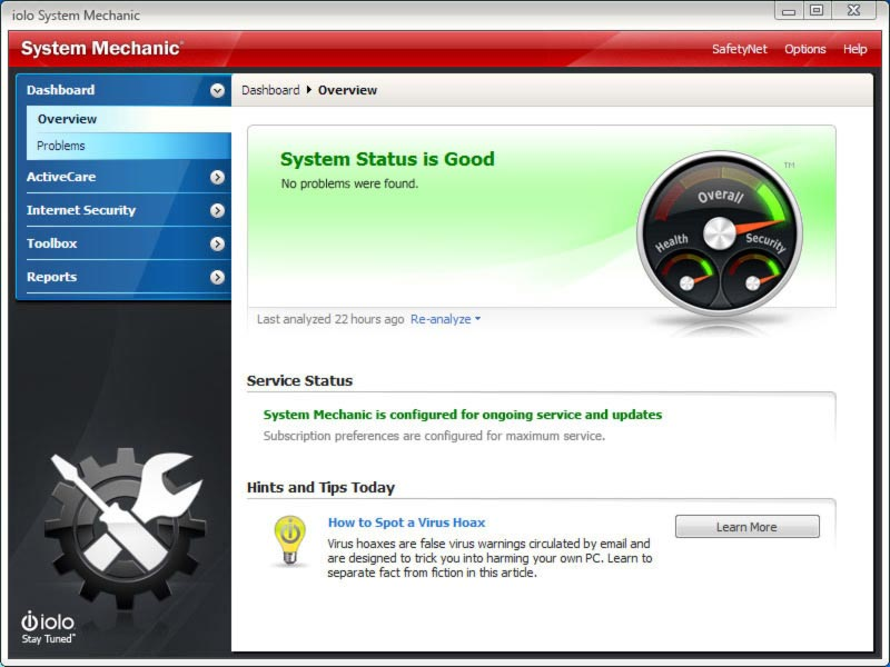 Click to view System Mechanic 8 screenshot