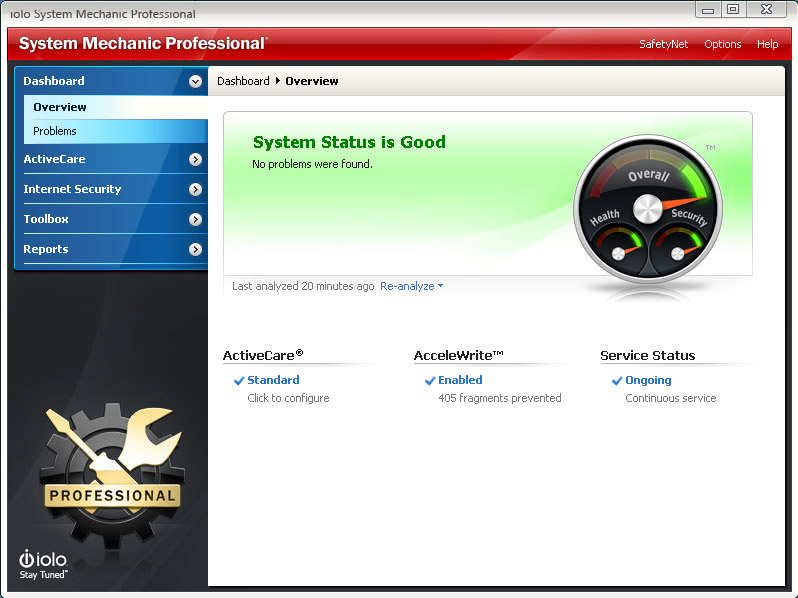 System Mechanic Professional Screen shot