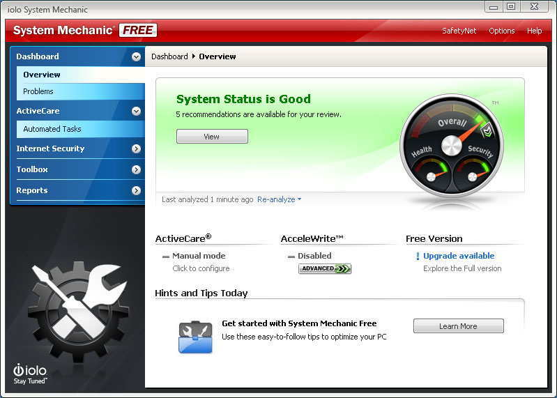 System Mechanic Free Screen shot